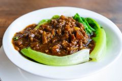 Stir fried beef with oyster sauce royalty free stock photography