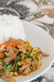 Stir fried beef ,spicy meal Royalty Free Stock Photo