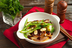 Stir fried beef in string beans Royalty Free Stock Photos