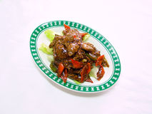 Stir fried beef in szechuan style Royalty Free Stock Photo