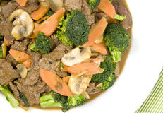 Stir Fried Beef and Vegetables Royalty Free Stock Photo