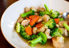Stir fried broccoli Royalty Free Stock Photography