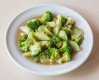 Stir fried broccoli Stock Images