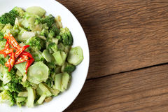 Stir fried broccoli (Pad Pak) vegetable Thai traditional food Royalty Free Stock Photography