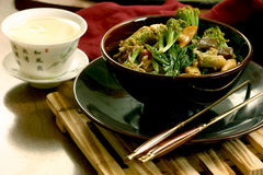 Stir Fried Broccoli With Vegetables Royalty Free Stock Photos