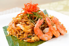 Stir fried char kuey teow. Close-up stir fried Penang char kuey teow stock photos