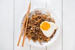 Stir fried Char Kuey Teow noodles Stock Photos