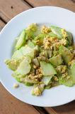 Stir-fried chayote with  eggs Royalty Free Stock Images