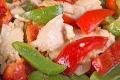 Stir Fried Chicken and Bell Pepper Stock Photography