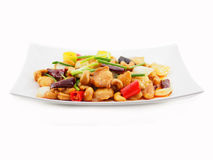 Stir fried chicken with cashew nut Royalty Free Stock Image