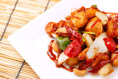 Stir fried chicken Royalty Free Stock Images