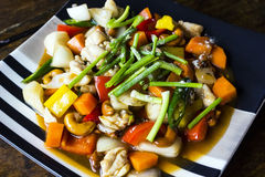 Stir-fried Chicken with cashew nuts Stock Photos