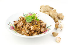 Stir fried chicken with ginger. Hot and spicy Royalty Free Stock Photography