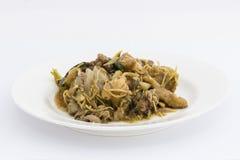 Stir fried chicken with ginger, ear mushroom Stock Photos