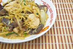 Stir fried chicken with ginger Stock Images