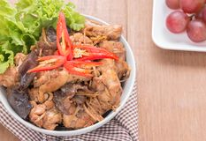 Stir fried chicken with ginger Royalty Free Stock Photos