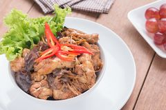 Stir fried chicken with ginger Royalty Free Stock Photography