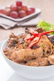 Stir fried chicken with ginger Stock Photography