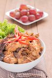 Stir fried chicken with ginger Stock Image