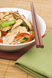 Stir Fried Chicken with Mushrooms stock photo