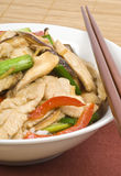 Stir Fried Chicken with Mushrooms Stock Photography