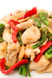 Stir Fried Chicken with Vegetable Royalty Free Stock Photos