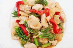 Stir Fried Chicken with Vegetable Stock Photos