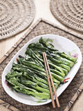 Stir fried chinese broccoli Royalty Free Stock Images