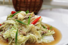 Stir-fried Chinese Cabbage Royalty Free Stock Photography
