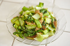 Stir fried Chinese cabbage Royalty Free Stock Photos