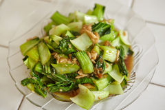 Stir fried Chinese cabbage Royalty Free Stock Photography