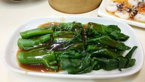 Stir fried Chinese kale with oyster sauce Stock Images