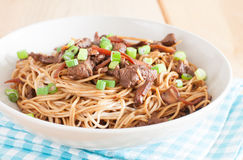 Stir-fried chow mein Royalty Free Stock Images