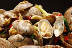Stir fried clams Royalty Free Stock Image