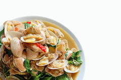 Stir-Fried Clams with Curry Stock Photo