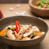Stir fried clams with roasted chili paste Stock Images