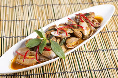 Stir fried clams with roasted chili paste Royalty Free Stock Image