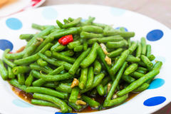 Stir fried common beans Royalty Free Stock Image