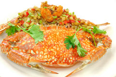 Stir-Fried Crab Stock Image