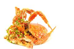 Stir-Fried crab Stock Images