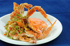 Stir-Fried crab Royalty Free Stock Photography