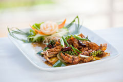 Stir fried crab with black pepper Royalty Free Stock Photo