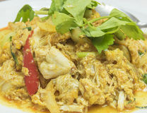 Stir-fried Crab in Curry Powder / food Stock Images