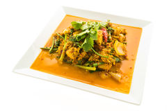 Stir fried crab with curry Stock Photography