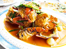 Stir-Fried crab with Garlic Stock Photos