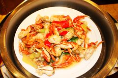 Stir-fried crab legs. Chinese dishes Stir-fried crab legs Stock Photo