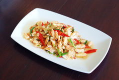 Stir fried crab meat Stock Images
