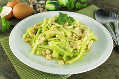 Stir Fried Cucumber With Chicken Stock Photography