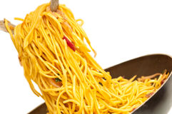 Stir fried egg noodles royalty free stock image