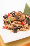 Stir fried egg plant, Thai food. Royalty Free Stock Photography